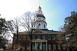 Maryland: Annapolis.  Maryland Statehouse.  Photo #: mdanna104(nef190).Photo copyright Lee Foster, www.fostertravel.com, 510/549-2202, lee@fostertravel.com