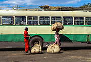 Loading at Bus Station 3, Harare, Zimbabwe, May 1995