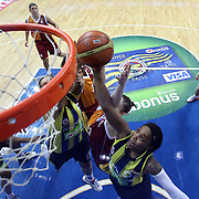Fenerbahce's Cappie Pondexter (R) during their Turkish Basketball woman league derby match Fenerbahce between Galatasaray at Ulker Sports Arena in Istanbul, Turkey, wednesday, December 26, 2012. Photo by Aykut AKICI/TURKPIX