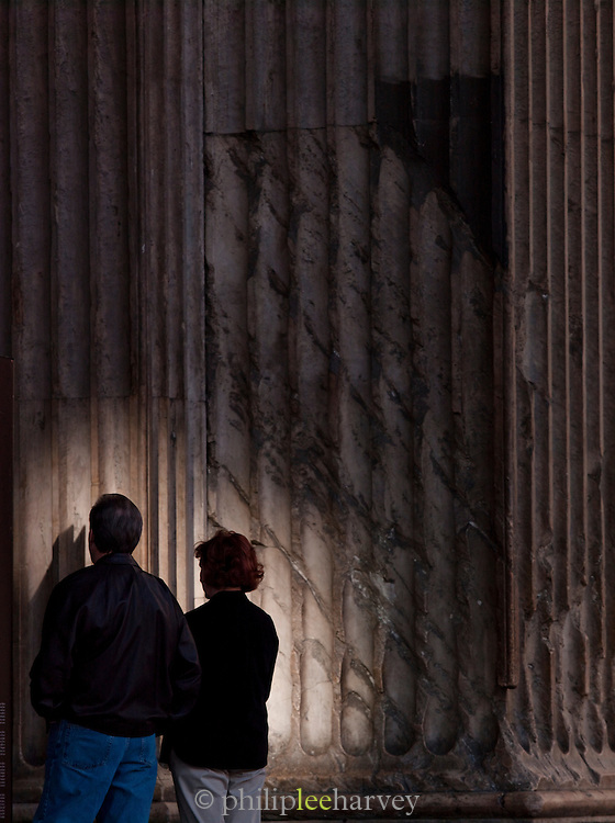 Tourists at The Pantheon, Rome, Italy.