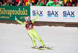 Stefan Kraft of Austria reacts during the Ski Flying Hill Men's Team Competition at Day 3 of FIS Ski Jumping World Cup Final 2017, on March 25, 2017 in Planica, Slovenia. Photo by Vid Ponikvar / Sportida