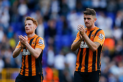 Robbie Brady and Stephen Quinn (L) look dejected after Hull City lose 2-0 to Tottenham Hotspur - Photo mandatory by-line: Rogan Thomson/JMP - 07966 386802 - 16/05/2015 - SPORT - FOOTBALL - London, England - White Hart Lane - Tottenham Hotspur v Hull City - Barclays Premier League.