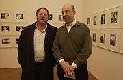 Michael Hoppen and Anthony D'Offay. ( knitted cardigan0 Warhol's World. Photography and Television. Hauser and Wirth. Piccadilly, London. 26  January 2006.  ONE TIME USE ONLY - DO NOT ARCHIVE  © Copyright Photograph by Dafydd Jones 66 Stockwell Park Rd. London SW9 0DA Tel 020 7733 0108 www.dafjones.com