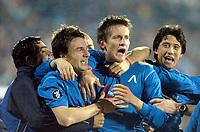 Fotball<br /> Foto: imago/Digitalsport<br /> NORWAY ONLY<br /> <br /> 16.03.2006  <br /> <br /> Igor Tomashich (Mitte), Hristo Yovov (li.) und Daniel Borimirov (re., alle Levski Sofia)