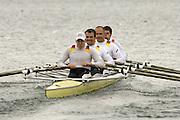 Munich, GERMANY, 2006, FISA, Rowing, World Cup, GER M4X bow, Falko Nolte, 2. Marco Geisler, 3. Christian Schriber and Rene Burmmeidter, on the Olympic Regatta Course, Munich, Fri. 26.05.2006. © Peter Spurrier/Intersport-images.com,  / Mobile +44 [0] 7973 819 551 / email images@intersport-images.com.[Mandatory Credit, Peter Spurier/ Intersport Images] Rowing Course, Olympic Regatta Rowing Course, Munich, GERMANY