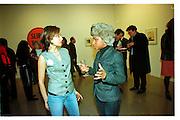 Hannah Bhuiya and Alexia Somerville, Product: Richard Hamilton private view, Gagosian Gallery. London. 13 January 2003.  © Copyright Photograph by Dafydd Jones 66 Stockwell Park Rd. London SW9 0DA Tel 020 7733 0108 www.dafjones.com