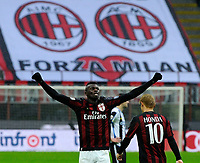 Esutanza gol di M'Baye Niang Milan 1-1. Celebration goal<br /> Milano 7-2-2016 Stadio Giuseppe Meazza - Football Calcio Serie A Milan - Udinese. Foto Giuseppe Celeste / Insidefoto