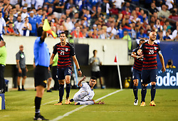 July 19, 2017 - Philadelphia, PA, USA - Philadelphia, PA - Wednesday July 19, 2017: Matt Hedges, Michael Bradley during a 2017 Gold Cup match between the men's national teams of the United States (USA) and El Salvador (SLV) at Lincoln Financial Field. (Credit Image: © Brad Smith/ISIPhotos via ZUMA Wire)