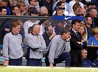 Fotball - Premier League - 30.03.2002<br />Leeds v Manchester United<br />Fra venstre: Roy Aitken - Eddie Gray - Brian Kidd og David O'Leary<br />Foto: Roger Parker, Digitalsport