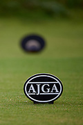 AJGA tee markers during the Under Armour® / Jordan Spieth Championship presented by American Campus Communities at Trinity Forest Golf Club in Dallas, Texas on August 15, 2017. CREDIT: Cooper Neill for The Wall Street Journal<br /> JRGOLF