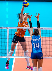 03-10-2018 NED: World Championship Volleyball Women day 5, Yokohama<br /> Argentina - Netherlands 0-3 / Lonneke Sloetjes #10 of Netherlands, Josefina Fernandez #14 of Argentina