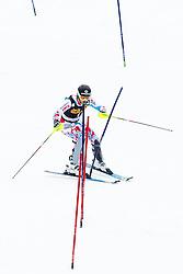 PINTURAULT Alexis of France makes mistake and drives over the pole during the 2nd Run of Men's Slalom - Pokal Vitranc 2013 of FIS Alpine Ski World Cup 2012/2013, on March 10, 2013 in Vitranc, Kranjska Gora, Slovenia.  (Photo By Matic Klansek Velej / Sportida.com)