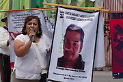 Activists protests against  forced disappearance in front of the Foreign Ministry in Mexico City on August 30th, 2012. (Photo: Prometeo Lucero)
