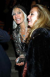 Left to right, VIRGINIA BATES and LUCY YEOMANS at a party to celebrate the first 20 years of fashion label Donna Karan held at her store at 19/20 New Bond Street, London W1 on 21st September 2004.<br /><br />NON EXCLUSIVE - WORLD RIGHTS
