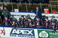 KELOWNA, BC - DECEMBER 27:  Kamloops Blazers' head coach Shaun Clouston stands on the bench at the Kelowna Rockets at Prospera Place on December 27, 2019 in Kelowna, Canada. (Photo by Marissa Baecker/Shoot the Breeze)