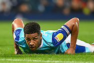 Derby County defender Curtis Davies (33) picks his self up during the EFL Sky Bet Championship match between West Bromwich Albion and Derby County at The Hawthorns, West Bromwich, England on 14 September 2021.