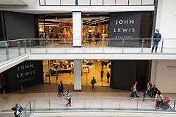 Edinburgh, Scotland, UK. 24 June 2021. First images of the new St James Quarter which opened this morning in Edinburgh. The large retail and residential complex replaced the St James Centre which occupied the site for many years. Pic; New John Lewis store inside mall.  Iain Masterton/Alamy Live News