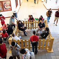 """Grants High School students """"locked up"""" teachers to raise funds for Family, Career and Community Leaders of America, a student organization Wednesday, Feb. 27 at Grants High School."""