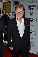 """Robert Redford attends The 2013 NEW YORK FILM FESTIVAL """"ALL IS LOST"""" Premiere at Alice Tully Hall on October 08, 2013 in New York City."""