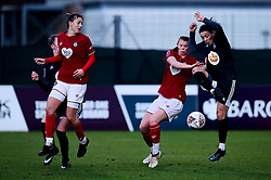 Gemma Evans of Bristol City and Meaghan Sargeant of Bristol City - Mandatory by-line: Ryan Hiscott/JMP - 08/12/2019 - FOOTBALL - Stoke Gifford Stadium - Bristol, England - Bristol City Women v Birmingham City Women - Barclays FA Women's Super League