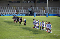 Rugby Union - 2020 / 2p021 Gallagher Premiership - Round 16 - Newcastle Flacons vs Bristol Bears - Kingston Park<br /> <br /> The teams line up for the 2 minute silence<br /> <br /> Credit: COLORSPORT/BRUCE WHITE