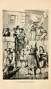 Fish Vendors at Oporto [Porto, Portugal] engraving on wood From The human race by Figuier, Louis, (1819-1894) Publication in 1872 Publisher: New York, Appleton