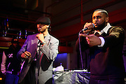 Iron Braydz, 26, (left) and his partner, Cataclysm, 27, (right) are performing on Thursday, Feb. 15, 2007, in London, England. Islamic Hip Hop artists like the duo 'Blind Alphabetz', from London, feel more than ever the need to say what they think aloud. In the music industry the backlash of a disputable Western foreign policy towards Islamic countries and its people is strong. The number of artists in the European Union and the US taking this into consideration and addressing the current social and political problems within their lyrics is growing rapidly and fostering awareness for Muslim and others alike.
