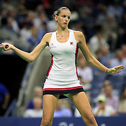2016 U.S. Open - Day 11  Karolina Pliskova of the Czech Republic in action during her victory against Serena Williams of the United States in the Women's Singles Semifinal match on Arthur Ashe Stadium on day eleven of the 2016 US Open Tennis Tournament at the USTA Billie Jean King National Tennis Center on September 8, 2016 in Flushing, Queens, New York City.  (Photo by Tim Clayton/Corbis via Getty Images)