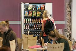 Vending machine in a  cafeteria