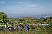 Two bicycles on Inis Mor Aran Islands County Galway Ireland