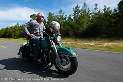 Bob Gamache of Lakeville, MA riding his 1948 Harley-Davidson FL Panhead in theCross Country Chase motorcycle endurance run from Sault Sainte Marie, MI to Key West, FL. (for vintage bikes from 1930-1948). 287 mile ride of Stage-8 from Tallahassee to Lakeland, FL USA. Friday, September 13, 2019. Photography ©2019 Michael Lichter.