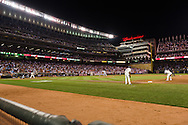 A general view of Target Field shortly before Minnesota Twins 3rd baseman Danny Valencia hits a 2-run, walk-off base hit in the bottom of the 9th inning against the Cleveland Indians on July 19, 2011 in Minneapolis, Minnesota.  The Twins defeated the Indians 2 to 1.