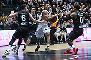 Basketball: 1. Bundesliga, Hamburg Towers - Hakro Merlins Crailsheim 91:92, Hamburg, 29.02.2020<br /> Demarcus Holland (Towers, M.)<br /> © Torsten Helmke