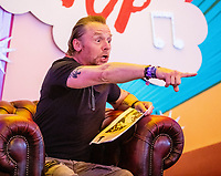 Simon Pegg reading bed time storys at the Big Feastival 2021 on Alex James' Cotswolds farm, Kingham  oxfordshire