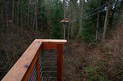 Zip Line at Canopy Tours NW, Camano Island, Washington, US