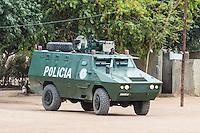 Armoured police estcort vehicle , Save River Bridge, Inhambane Province, Mozambique
