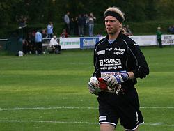 FODBOLD: Kristoffer Nilsson (Helsingør) under kampen i Danmarksserien, pulje 1, mellem Virum-Sorgenfri Boldklub og Elite 3000 Helsingør den 15. august 2008 på Virum Stadion. Foto: Claus Birch