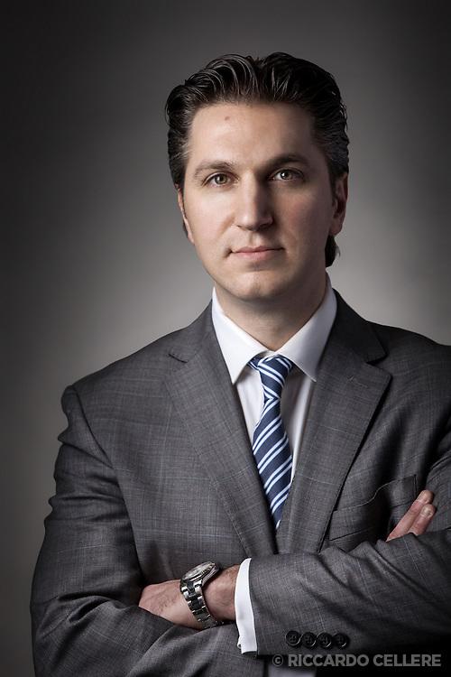 Portrait photography. David Baazov, CEO of Amaya Gaming. 2012.