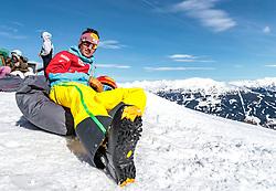 02.04.2018, Skizentrum Hochzillertal, Kaltenbach, AUT, JumpandReach Skitag, im Bild Christian Deuschl // during the Skiing Day after the Winterseason with the Austrian JumpandReach Athletes at the Skiresort Hochzillertal, Austria on 2018/04/02. EXPA Pictures © 2018, PhotoCredit: EXPA/ JFK