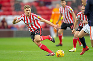 Max Power (#27) of Sunderland AFC during the EFL Sky Bet League 1 match between Sunderland AFC and Luton Town at the Stadium Of Light, Sunderland, England on 12 January 2019.