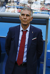 June 15, 2018 - Saint Petersburg, Russia - Group B Morocco v IR Iran - FIFA World Cup Russia 2018.Coach of Iran Carlos Queiroz  during the 2018 FIFA World Cup Russia group B match between Morocco and IR Iran at the Saint Petersburg Stadium on June 15, 2018 in Saint Petersburg, Russia. (Credit Image: © Matteo Ciambelli/NurPhoto via ZUMA Press)