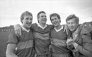 1987 Kerry County Final : Kenmare defeat dr crokes.<br /> The Spillane brothers, Pat, Tom and Mike celebrate after defeating Dr Crokes in the 1987 Kerry County Final.<br /> Photo: Don MacMonagle <br /> e: info@macmonagle.com<br /> <br /> from the macmonagle archive