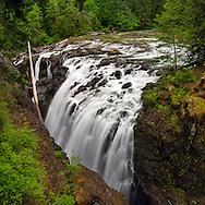 Englishman River Falls in Spring on Vancouver Island in British Columbia, Canada