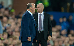 LIVERPOOL, ENGLAND - Monday, September 13, 2021: Everton's manager Rafael Benítez (L) and Burnley's manager Sean Dyche (R) during the FA Premier League match between Everton FC and Burnley FC at Goodison Park. (Pic by David Rawcliffe/Propaganda)