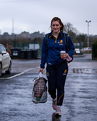 Meg Varley, making her 50th appearance for Worcester Warriors Women, arrives at Sixways - Mandatory by-line: Nick Browning/JMP - 20/12/2020 - RUGBY - Sixways Stadium - Worcester, England - Worcester Warriors Women v Harlequins Women - Allianz Premier 15s