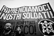 Manifestation of Casapound. Rome, 24 november 2012. Christian Mantuano / OneShot