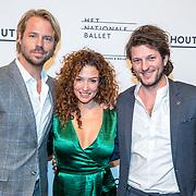 NLD/Amsterdam/20180324 - inloop première Dutch Doubles ballet, Thijs Romer, Katja Schuurman en partner Freek van Noortwijk