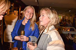 Left to right, Georgie Killik and Maddie Smith at the Seren London Launch Party held at Baar And Bass, 336 Kings Road, London England. 26 April 2017.