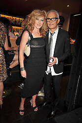 KELLY HOPPEN and VIDAL SASSOON at a party to celebrate the new Stephen Webster store on Mount Street, London W1 followed by a dinner at Maddox, Mill Street, London on 24th June 2009.