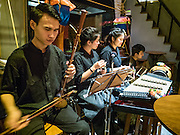 27 JANUARY 2016 - BANGKOK, THAILAND: The house band plays traditional Thai music in Tep Bar, a new bar and restaurant in the Chinatown neighborhood of Bangkok.       PHOTO BY JACK KURTZ